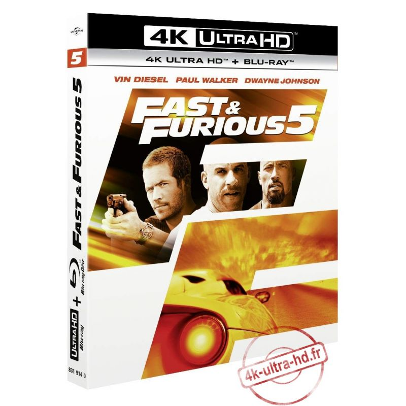 Jaquette 4k Fast and Furious 5