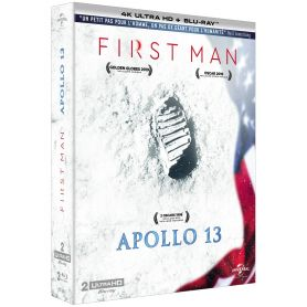Jaquette 4k Coffret First Man + Apollo 13