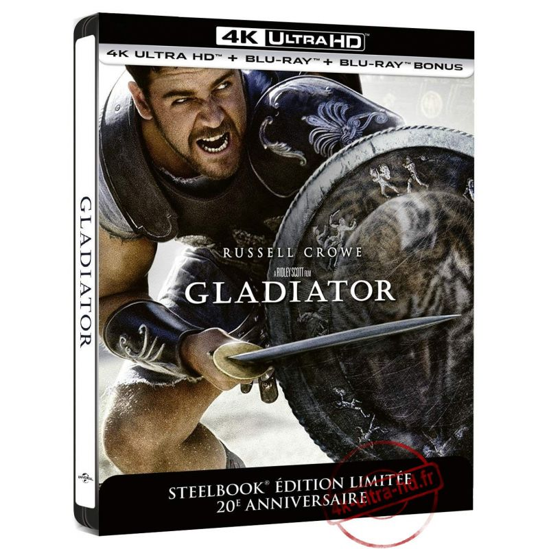 Visuiel 4k Gladiator Edition Steelbook du 13 Mai 2020